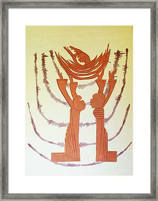 Nativity Of Jesus Framed Print by Gloria Ssali