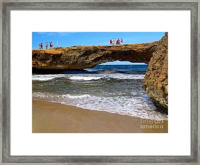 Natural Bridge Aruba Framed Print by Amy Cicconi