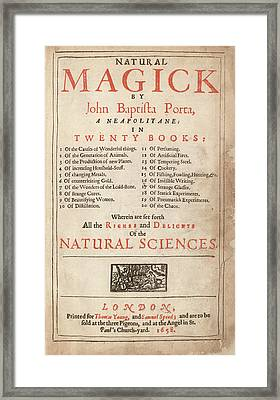 'natural Magick' (1658) Framed Print