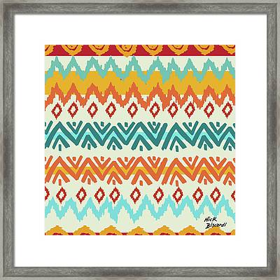 Navajo Mission Round Framed Print by Nicholas Biscardi