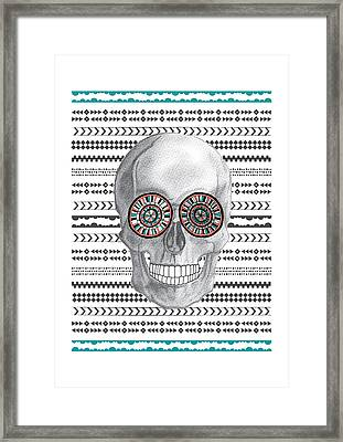 Navajo Skull Framed Print by Susan Claire