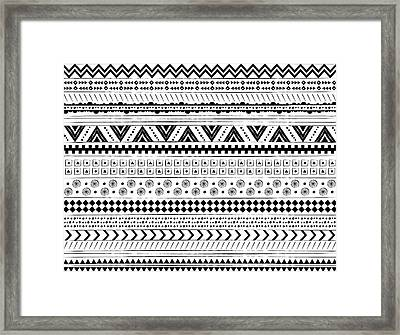 Navajo Surf Repeat Print Framed Print by Susan Claire