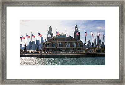 Navy Pier Framed Print by Sheryl Thomas