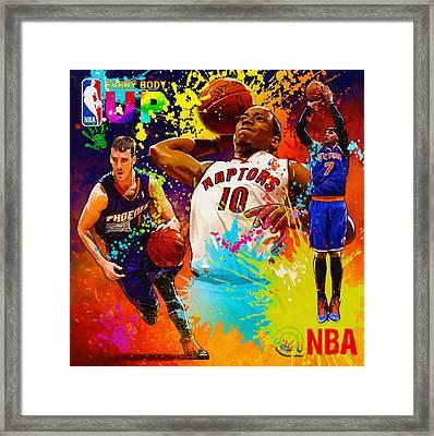 Nba Season Poster - Part 2 Framed Print by Don Kuing