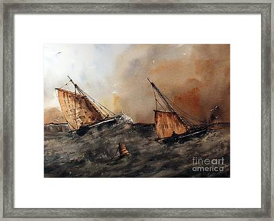 Neck And Neck Galway Hookers Framed Print