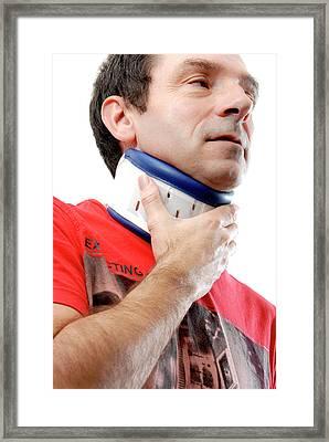 Neck Brace Framed Print by Aj Photo