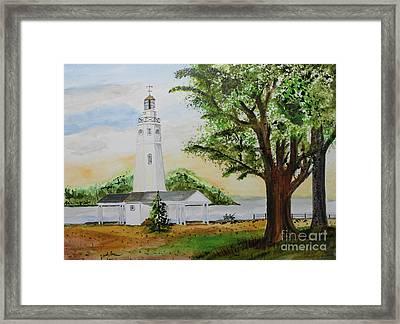 Neenah Light House Framed Print
