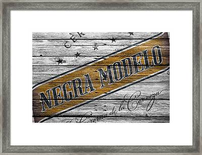 Negra Modelo Framed Print by Joe Hamilton