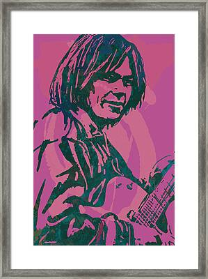 Neil Young Pop Artsketch Portrait Poster Framed Print by Kim Wang