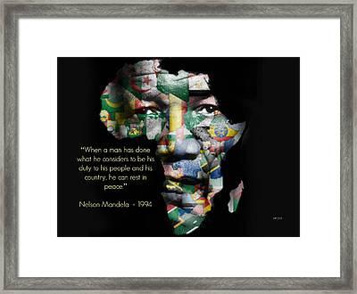 Nelson Mandela Framed Print