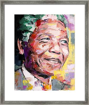 Nelson Mandela Framed Print by Richard Day