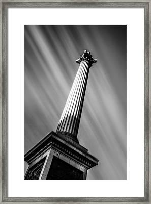 Nelsons Column London Framed Print