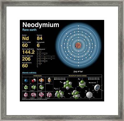 Neodymium Framed Print