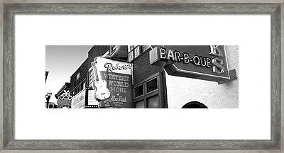 Neon Signs On Building, Nashville Framed Print
