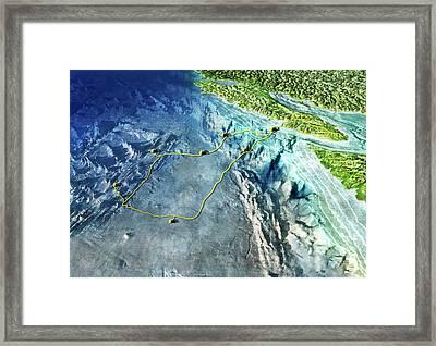 Neptune Ocean Observatory Framed Print by Nicolle R. Fuller