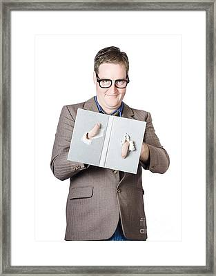 Nerdy Bookworm Framed Print by Jorgo Photography - Wall Art Gallery