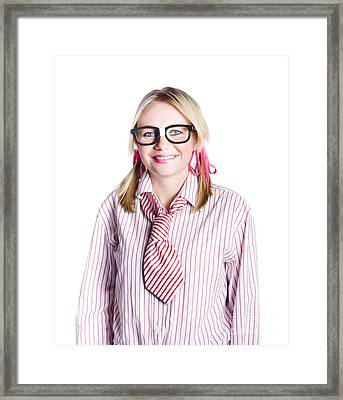 Nerdy Young Business Person Framed Print by Jorgo Photography - Wall Art Gallery