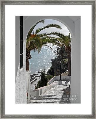 Nerja Archway Framed Print by Rod Jones