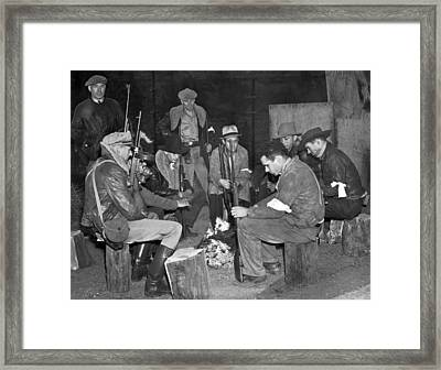 Nevada Posse Against Strikers Framed Print by Underwood Archives
