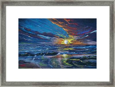 Never Ending Sea Framed Print