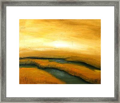 New England Marsh Framed Print