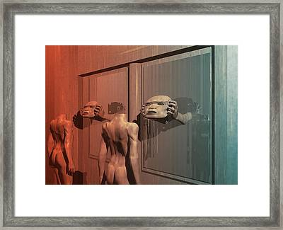 Framed Print featuring the digital art New Faces by John Alexander