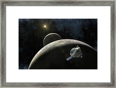 New Horizons At Pluto Framed Print