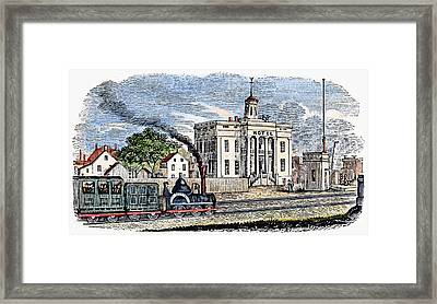 Framed Print featuring the painting New Jersey Rahway, 1844 by Granger