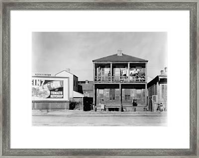 New Orleans House, 1936 Framed Print