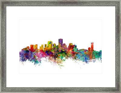New Orleans Louisiana Skyline Framed Print by Michael Tompsett