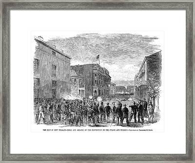 New Orleans Riot, 1866 Framed Print by Granger