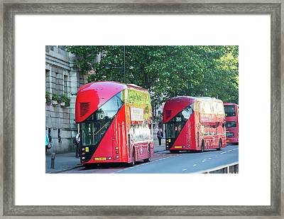 New Routemaster Bus Framed Print by Ashley Cooper
