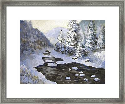 New Snow Framed Print