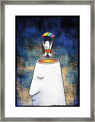 New Thoughts, Conceptual Artwork Framed Print by David Gifford
