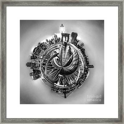 Manhattan World Framed Print