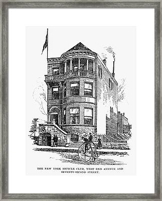 New York Bicycle Club Framed Print