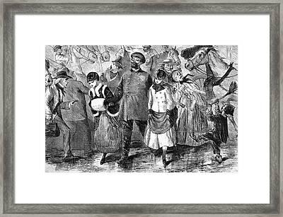 New York Broadway, 1870 Framed Print by Granger