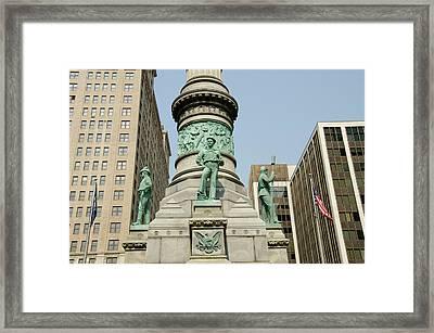 New York, Buffalo, Lafayette Square Framed Print by Cindy Miller Hopkins