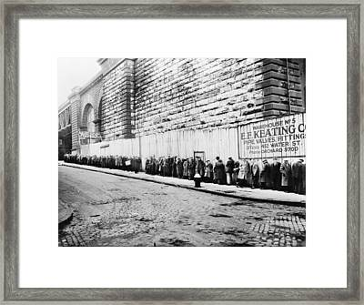 New York City Bread Line Framed Print