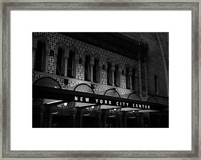 New York City Center Framed Print