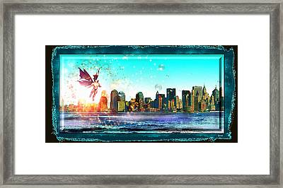 New York City Framed Print by Daniel Janda