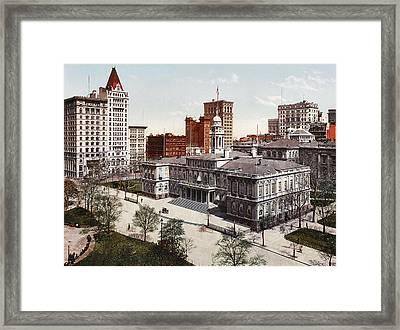 New York City Hall 1900 Framed Print