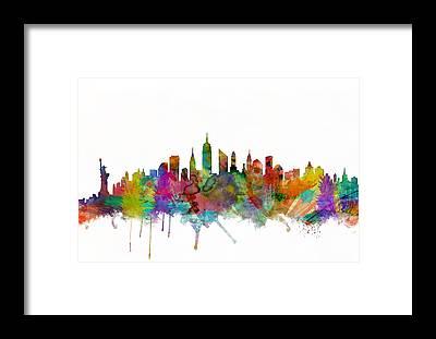New York Skyline Framed Prints