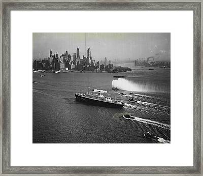 New York Gala Welcome Framed Print by Retro Images Archive