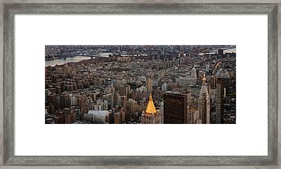 New York Manhattan Landscape Framed Print by Marianna Mills