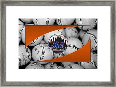 New York Mets Framed Print by Joe Hamilton