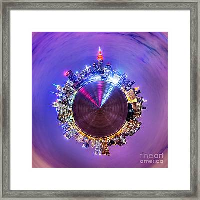 New York Skyline Circagraph Framed Print by Az Jackson