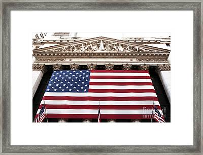 New York Stock Exchange Framed Print by John Rizzuto