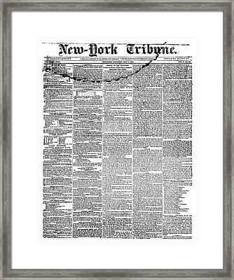 New York Tribune, 1841 Framed Print