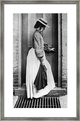 New York Woman Worker Framed Print by Granger